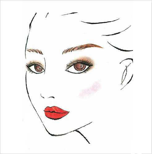 手绘彩妆打造新娘魅力妆容
