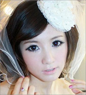 90后新娘最愛的時尚新娘發型圖片