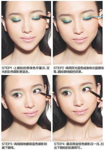 对双彩色眼妆的画法掌握得再游刃有余,没有一个整体不错的底妆做画纸