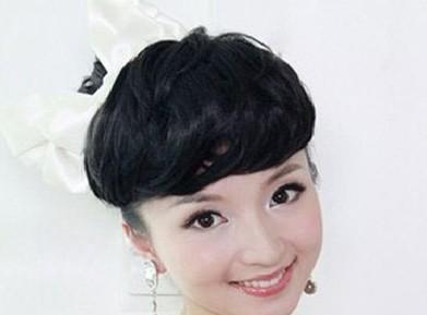 唯美的新娘齐刘海发型