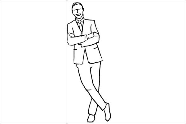与一般的看法不同,坐在桌子上也可以用在正式人像照片中,这种姿势有