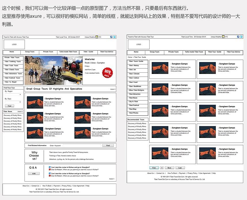 网页设计流程实例说明