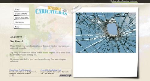 个性创意404错误页面设计