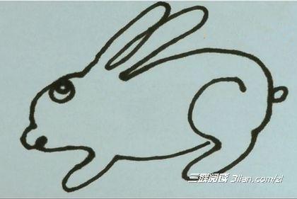 一笔画兔子的方法