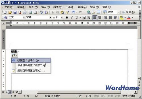 10405  Word2003文档自动更正智能标记-在Word 2003中使用 自动更图片