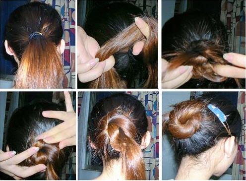 夏季如何盘头 夏季发型简易盘头法 夏季发型简易盘头步骤图片