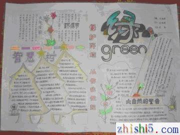 小学生环保手抄报图片-绿色